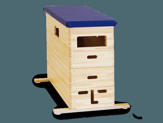 Klassiker Sprungkasten aus Massivholz