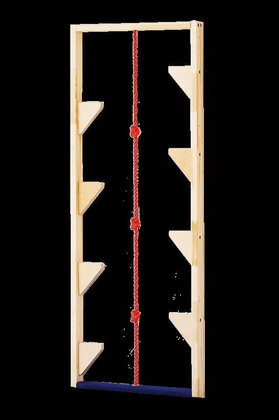 Einzelelement Stelzenwand mit Klettertau