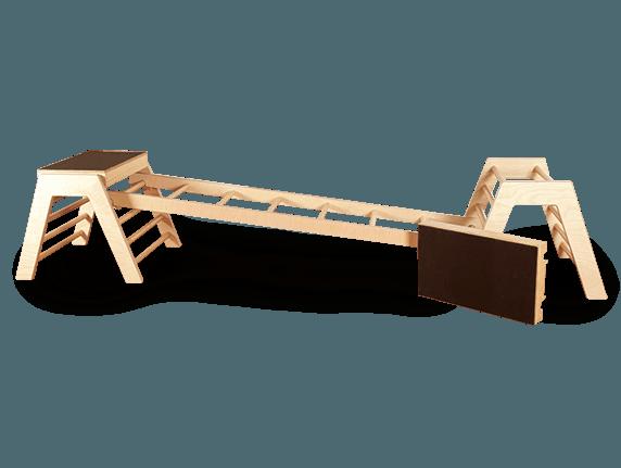 Trapezböcke mit Leiter
